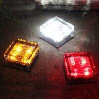 Tanbaby 4 led Solar Lámpara de luz Subterráneo LLEVADA 4 W Impermeable de Cristal cuadrada led decortive noche lámpara de jardín, camino, Carretera