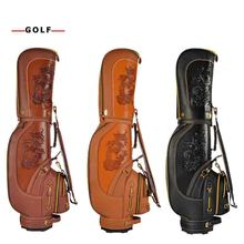 PGM High Quality PU Leather Dragon Golf Club Bag Men Vintage Waterproof Durable Bolsa de Golf 3 Colors Available 2018 direct selling golfbag capa de tacos de golfe golf bag pgm golf standard package of genuine men s special value for the