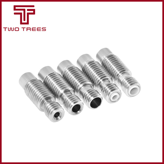 5PC 3D Printer Nozzle throat,All metal or tube or 4.1mm Through-hole for 3d V6 1.75mm 3mm Extruder Hot End J-Head