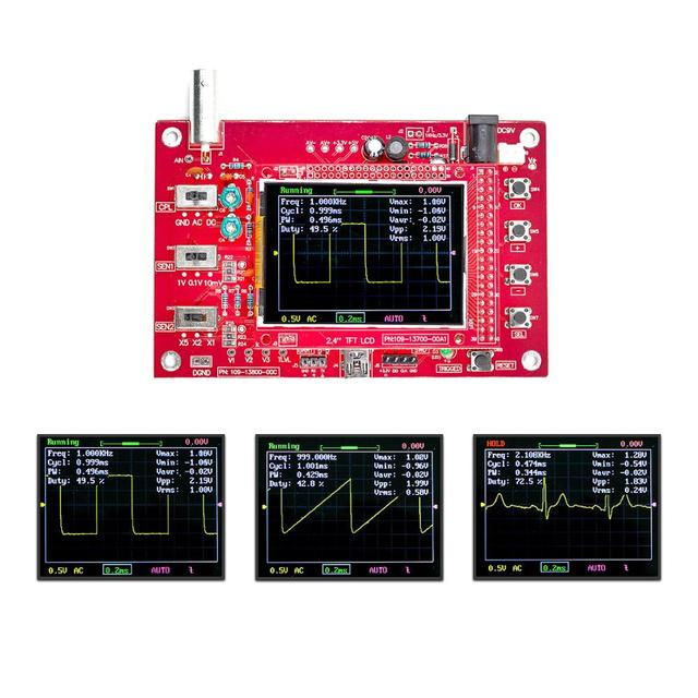 "Fully Assembled DSO FNIRSI 138 Open Source 2.4"" TFT Digital Oscilloscope (1Msps) with FREE Probe"