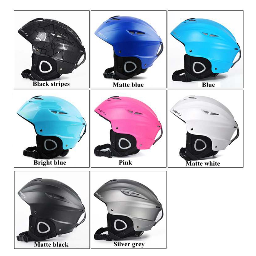 все цены на Ultralight Ski helmet Integrally-molded Breathable Snowboard helmet men women Skateboard helmet 6 Color в интернете