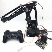 Arduino 4dof рука робота ABB промышленных пакетирования Нержавеющая Сталь Дистанционный пульт PS2