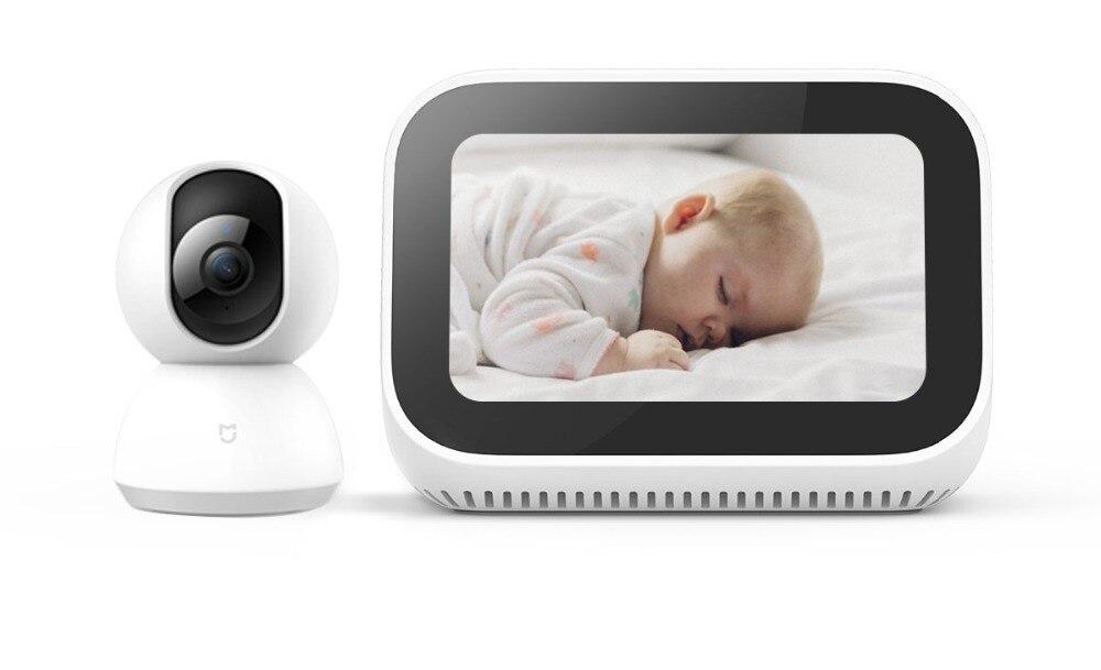 Original Xiaomi AI Face pantalla táctil Bluetooth 5,0 altavoz pantalla Digital despertador WiFi conexión inteligente con timbre vedio - 3