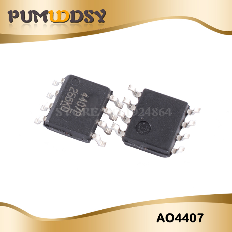 10PCS 4407 AO4407 AO4407A SOP8 P-Channel MOSFET IC