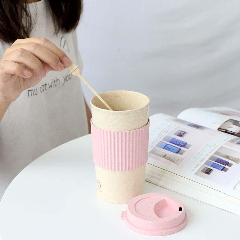 Aliexpress.com : Buy New Wheat Straw Plastic Coffee Cups ...