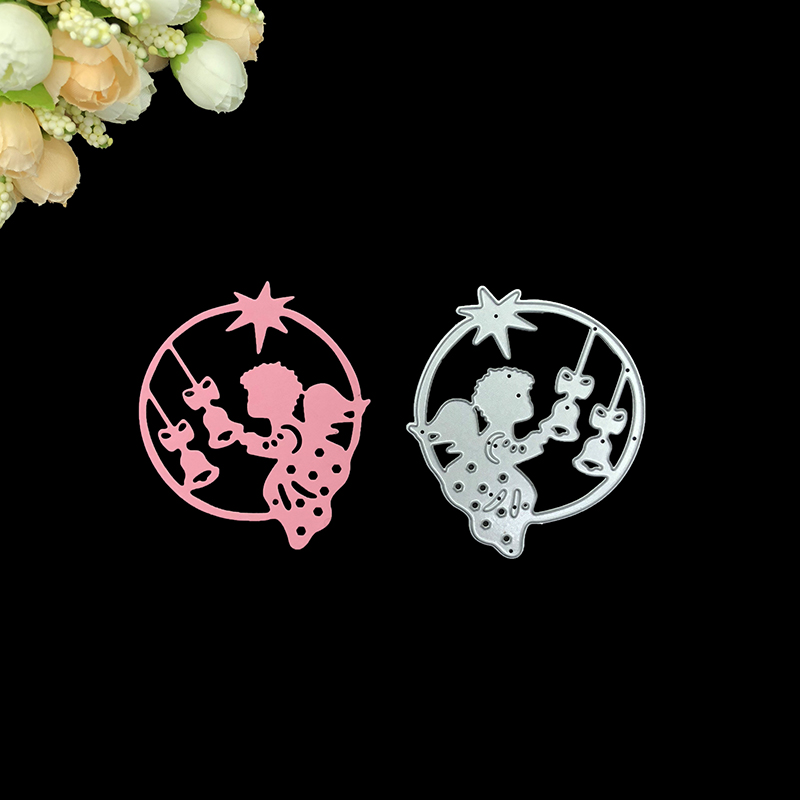 Julyarts Scrapbooking Cutting Dies Metal Angel Fairy Drawing Stencils Embossing Nouveau Arrivage