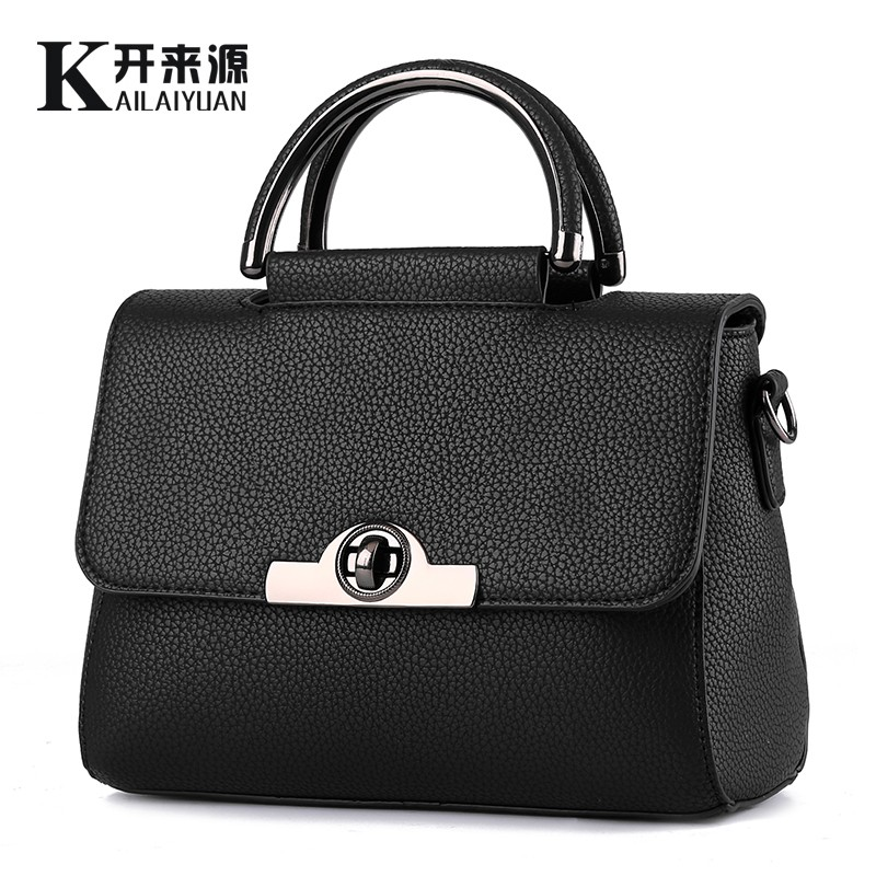 KLY 100% Genuine leather Women handbag 2017 New Sweet lady fashion handbag Crossbody Shoulder Handbag women messenger bags