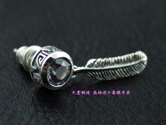 Authentic, G V new - retro Thai silver CZ earrings 1 PairAuthentic, G V new - retro Thai silver CZ earrings 1 Pair