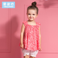 2016 New T Shirt Skirt Baby Kids Suits 2 Pcs Fashion Girls Clothing Sets Casual Children