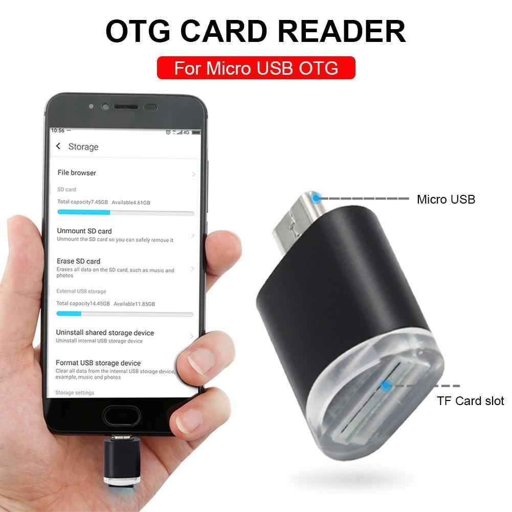 Micro USB OTG To USB Adapter SD TF Memory Card Reader With Standard USB Male Connector For Smartphones Tablets Camera