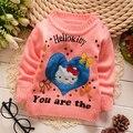 Meninas do bebê Blusas de Inverno Outono Meninas Camisola Gato Dos Desenhos Animados da Criança de Malha Camisola da Roupa Do Bebê 0-3 Anos