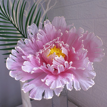 Simulation Linen Large Peony Artificial flowers Wedding Background Fake Flowers Wall Decoration Home Accessories