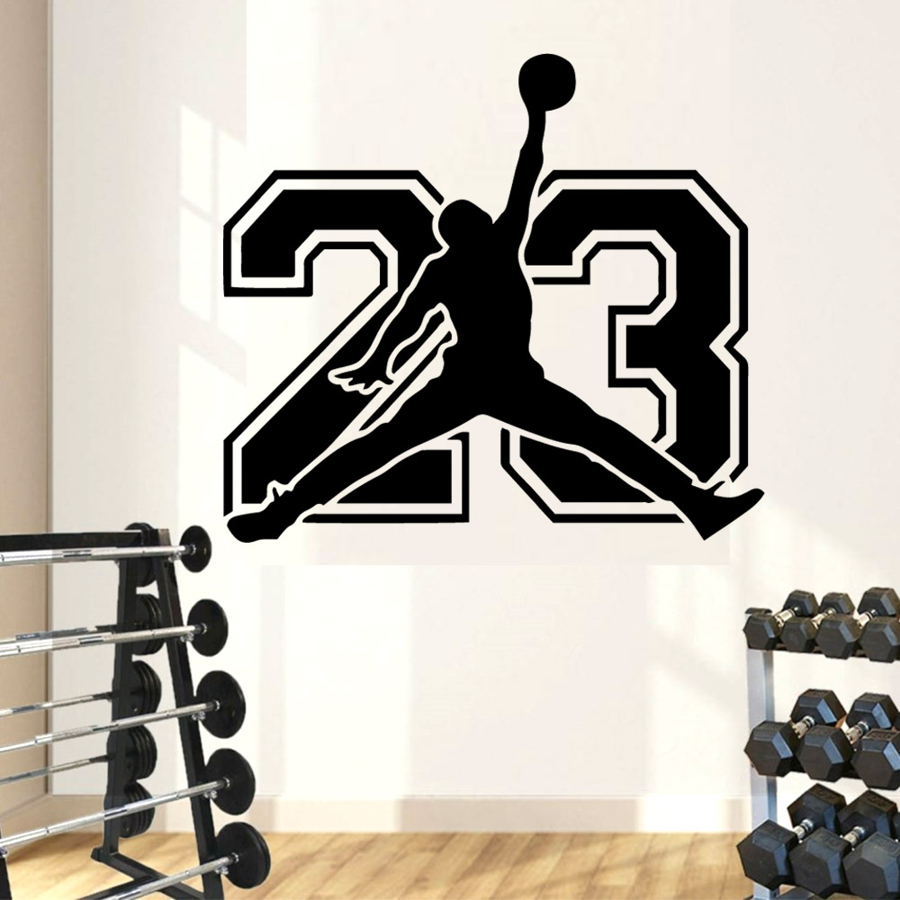 x7 Basketball Player Stickers Wall Skirting Craft Vinyl Bedroom Decal