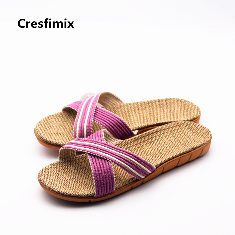 Cresfimix chinelos mulheres women fashion soft & comfortable spring slides lady casual summer slip on slippers cute slippers cresfimix women cute spring