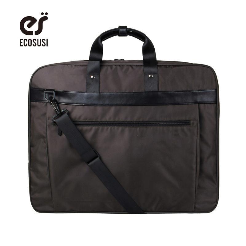 Ecosusi новый костюм крышка легкий черный нейлон бизнес платье мешок одежды водонепроницаемый костюм мешок прочный мужчин костюм, сумка