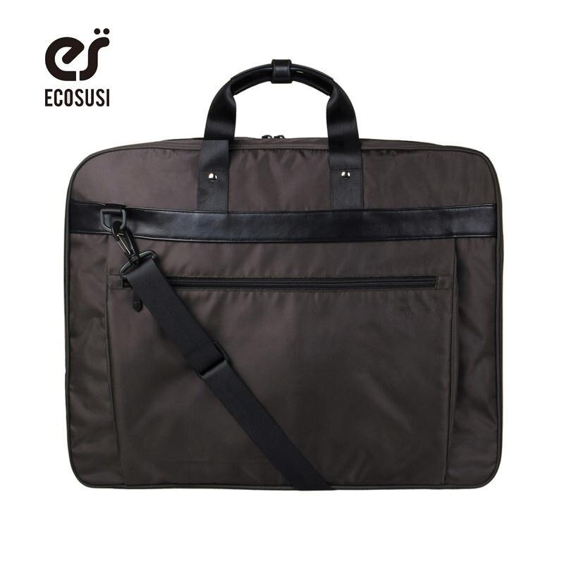 ECOSUSI New Suit Cover Lightweight Black Nylon Business Dress Garment Bag Waterproof Suit Bag Men s