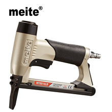 Meite MT8016LN 21GA crown 12.8mm fine wire stapler 80 staples length 6-16mm series furniture long nose pneumatic nailer gun fivepears air nailer gun straight nail gun pneumatic nailing stapler furniture wire stapler f30