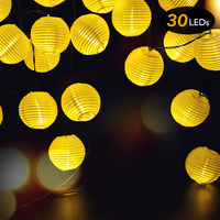 1pc Halloween Lantern Ball String Lights 30 LEDs Solar Powered Outdoor Outdoor Lighting Fairy Lights for Wedding Party Garden