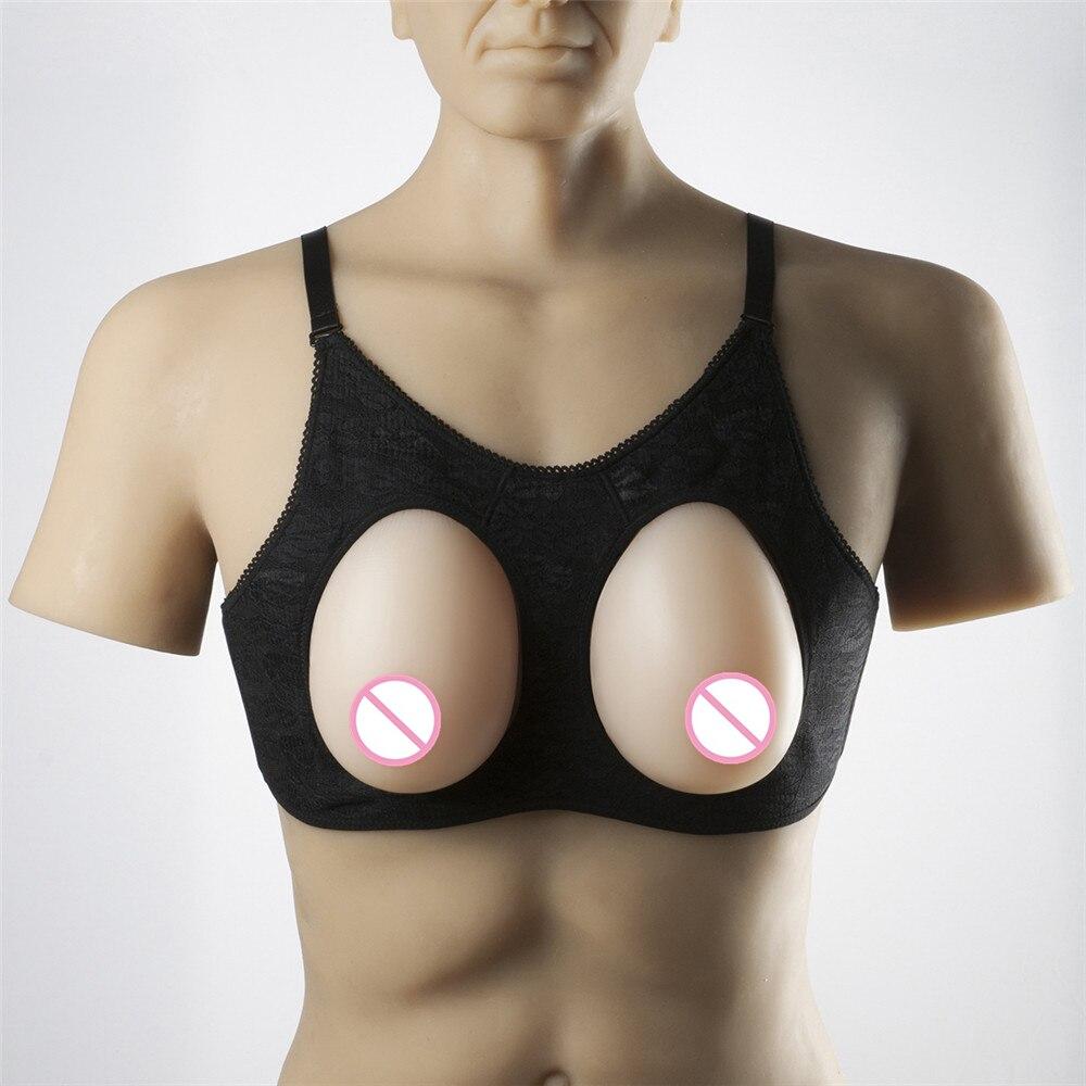 Buy Transgender Silicone  Breast Prosthesis 800g/pair Breast Forms Fake Boobs Artificial Breast Men Crossdresser