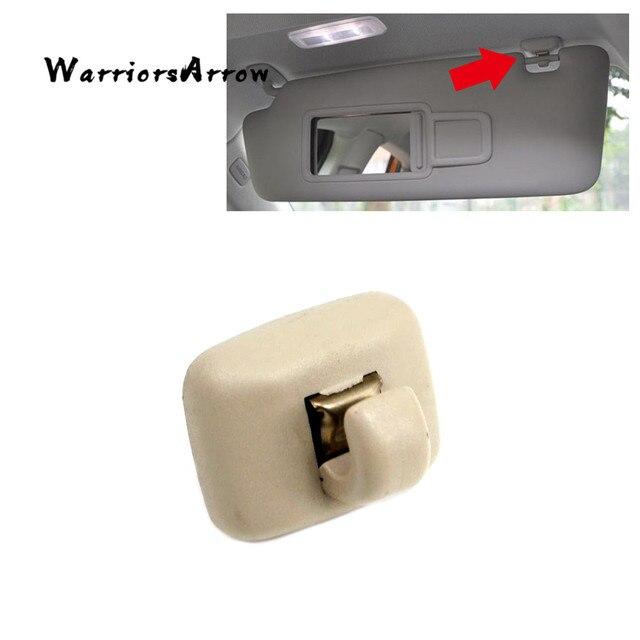 WarriorsArrow Beige Front Sun Visor Sunvisor Clip Hanger Hook Retainer  Holder For Audi TT A6 C5 2000 2005 4B0857562 4B0857563 b079145f581