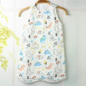 Спальный мешок для малышей Wasoyoli, 4 слоя, муслиновое хлопковое От 0 до 6 лет, без рукавов, для маленьких девочек и мальчиков, одеяло, спальные ме...