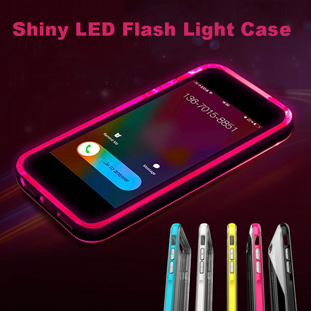 online store 78c8f 7ff5f US $7.99 |mobile phone accessories Colorful LED Flash Light Plastic Bumper  back cover Case For Iphone 6 free shipping on Aliexpress.com | Alibaba ...