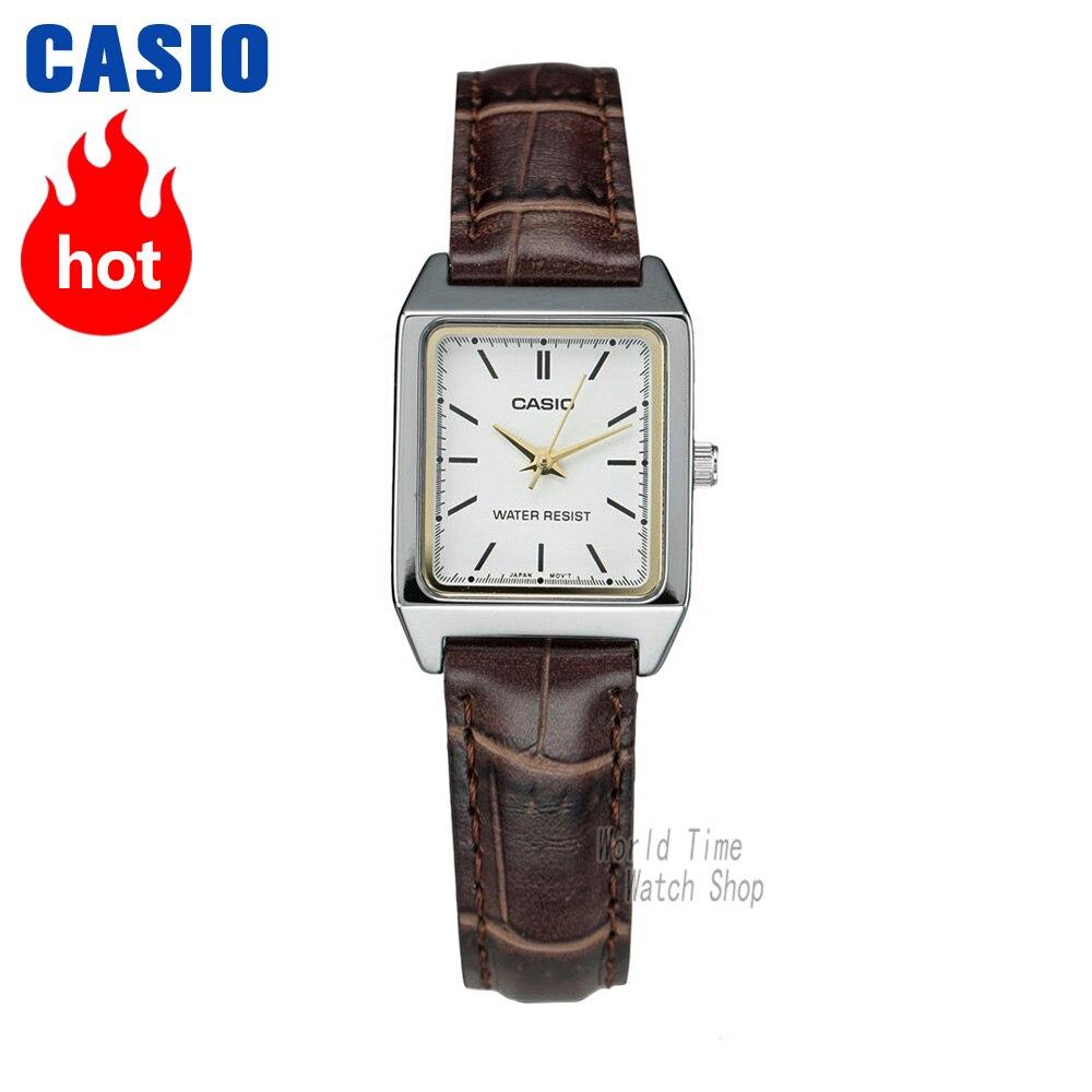 Casio montre Analogique Femmes montres à quartz de petit carré montre rétro tendance pointeur montre étanche LTP-V007
