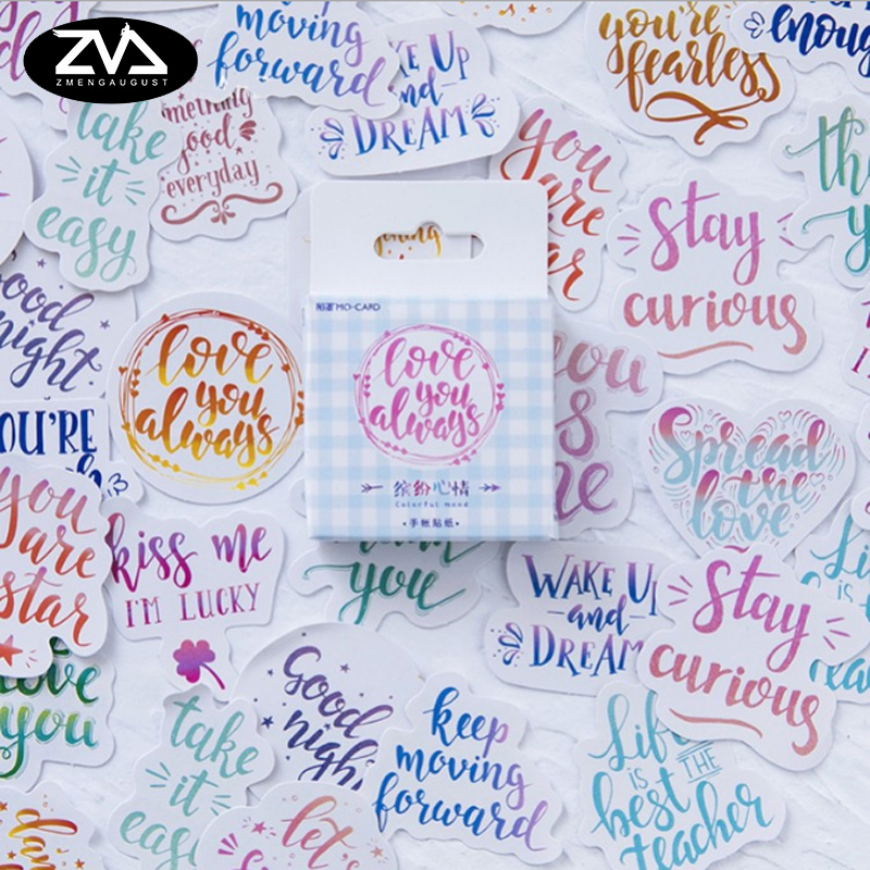 46 Pcs/box Colorful mood Mini Paper Decoration DIY Scrapbook Notebook Album Sticker Stationery Kawaii Girl Sticker lexington studios 24018g its a girl mini album