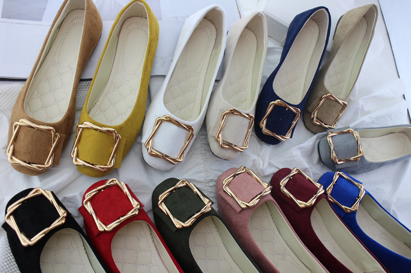 Big Size Women Flats Shallow Candy Color Shoes Woman Loafers Autumn Fashion Sweet Flat Casual Shoes Women Plus Size 35-42 8
