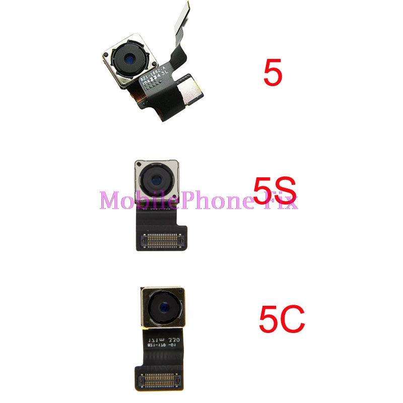 Testé le Grand Retour Caméra Flex Câble Pour iPhone 5 5C 5S arrière Principal Cam Module Pour iPhone5 iPhone5C iPhone5S 8MP 1080 P De Réparation pièces