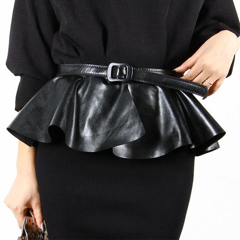 High Quality Hot Sales Women Pin Buckle Waist   Belt   Mini Dress for Female Pu Leather   Belt   Wide Party Girdle
