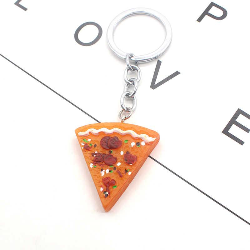 הטוב ביותר חברים ידידות תכשיטי Creative מתנה לחבר פיצה BFF Keychain מזון פיצה מפתח שרשרת טבעת מחזיק