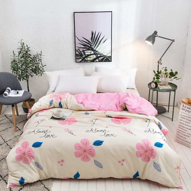 Pastoral Style 100% Cotton Duvet Cover Beauty Floral Printing Comforter Cover Single Double Twin Queen King Size Quilt Cover