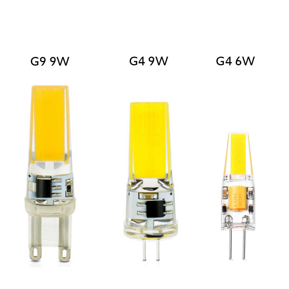 Replace Halogen 10W 20W 35W 50W  Spotlight Chandelier G9 LED BULB G4 led Lamp Bulb AC DC 12V 220V COB LED Light BULB
