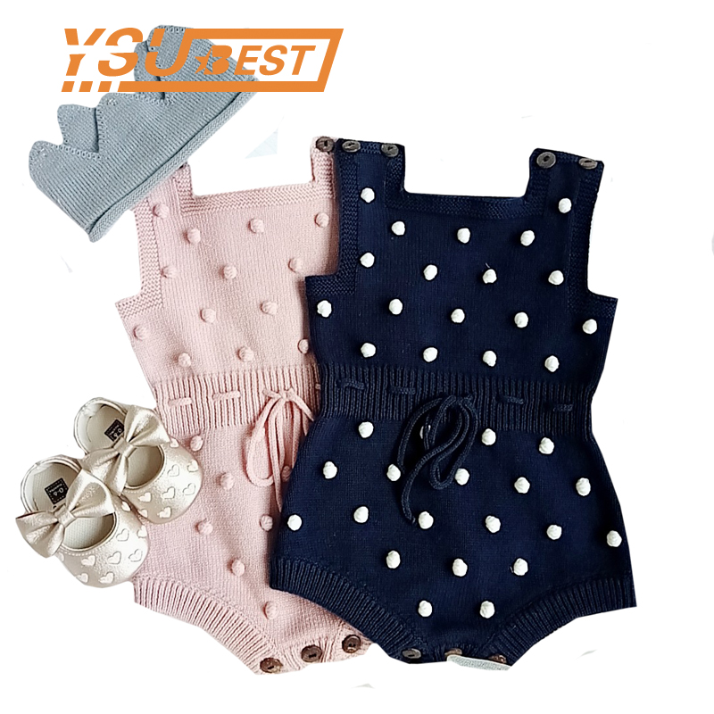 2018 Baby Bodysuits Autumn New Baby Boys Clothes Sweater Handmade Prom Toddler Girls Bodysuits Knit Bodysuits Baby Girl Clothes