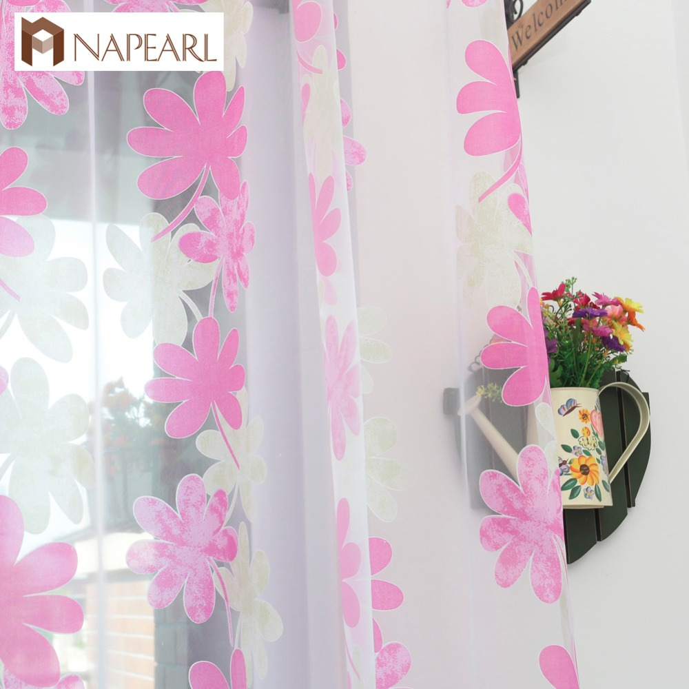 NAPEARL Modern Curtain Window Tulle Fabrics For Window Treatments Curtain For Bedroom Yarn Curtain Sheer Panel Home Living Room