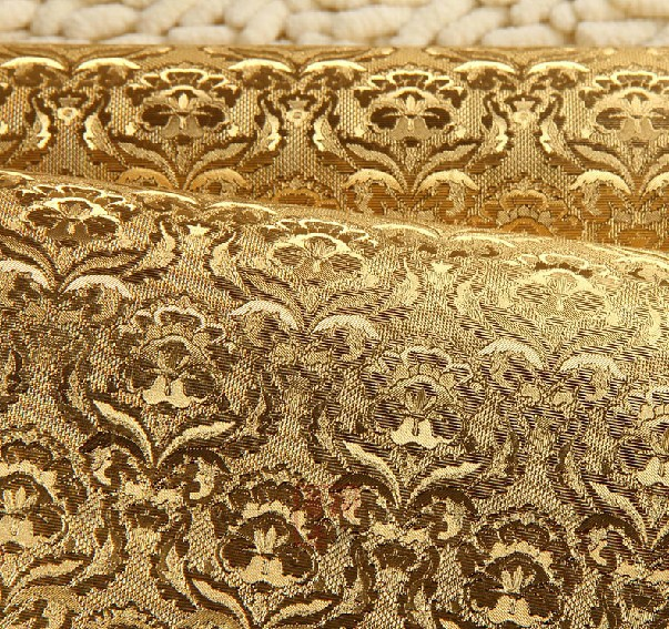 Modern european luxury gold 3d wallpaper living room for Gold 3d wallpaper