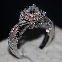 choucong Valuable Jewelry Genuine 1ct Stone 5A Zircon Cz 925 Sterling Silver Women Engagement Wedding Band Ring