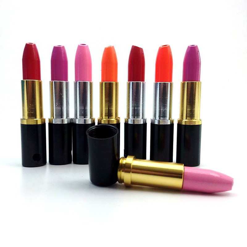 1 Pcs Lipstick Smoke Metal Pipes Portable Creative s