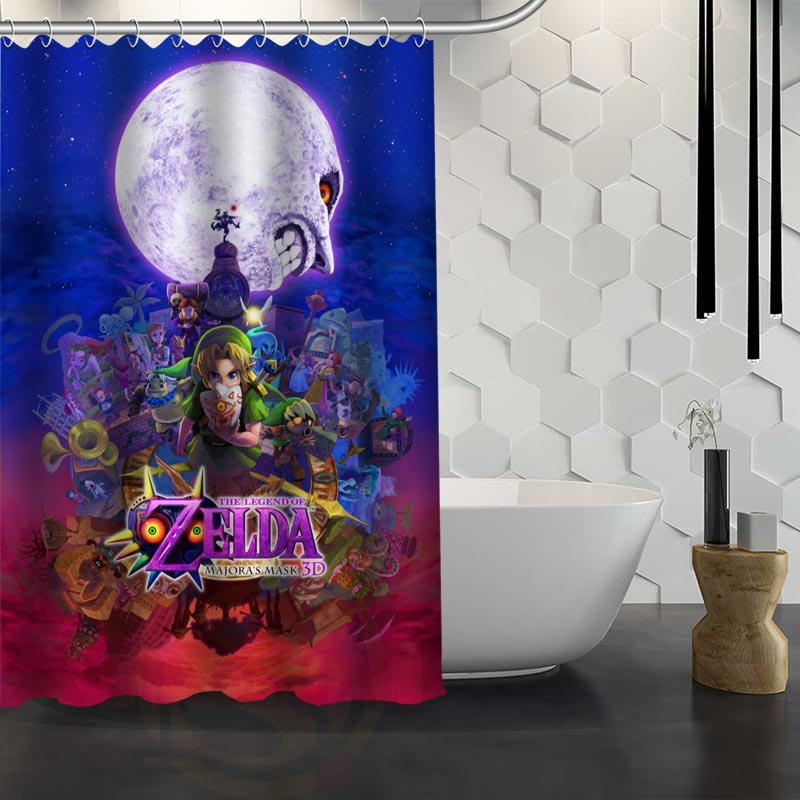 Hot Sale Custom The Legend Of Zelda Shower Curtain Waterproof Fabric Shower  Curtain For Bathroom F#Y1 17 In Shower Curtains From Home U0026 Garden On ...