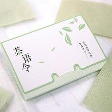 100 листов/упаковка папиросной бумаги s зеленый чай запах Макияж очищающее масло поглощающее бумага для лица Впитывающее промокание очищающее средство для лица