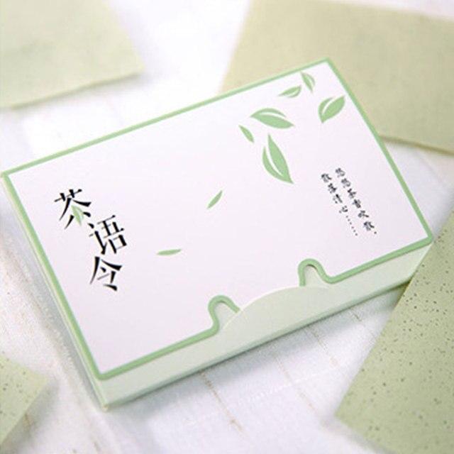 100 hojas/Paquete de papel de seda verde té olor maquillaje limpieza aceite absorbente de papel Facial absorbente de la cara limpiador Facial herramienta