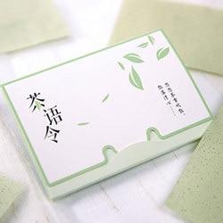 100 hojas/paquete pañuelo de papel té verde olor limpiador de maquillaje absorbente de papel facial absorbente facial herramienta de limpieza facial