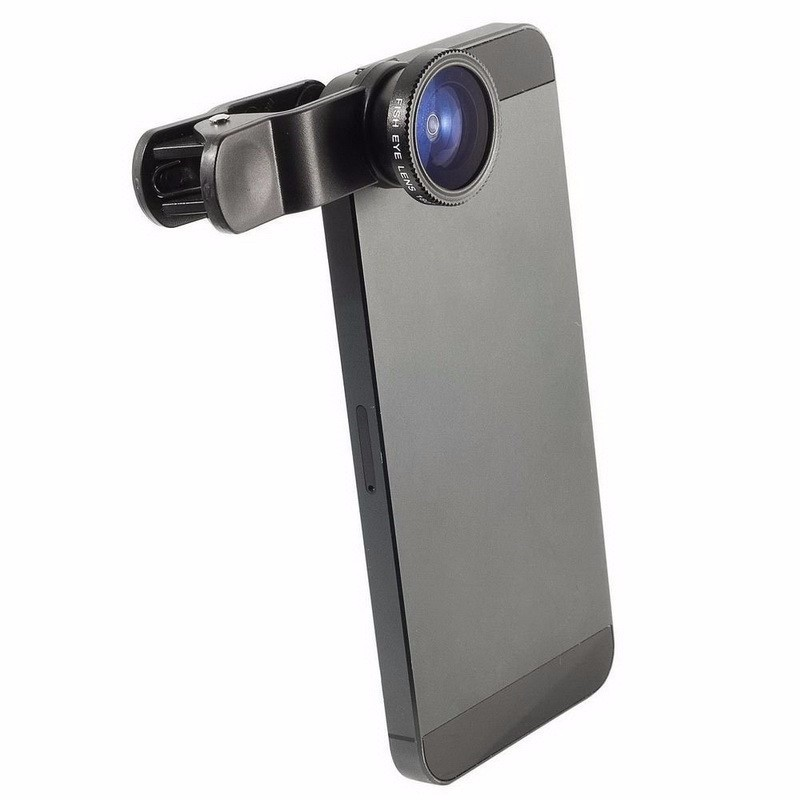 Fisheye Lens 3 in 1 mobile phone clip lenses fish eye wide angle macro camera lens for iphone 6s plus 5s/5 xiaomi huawei lenovo 3