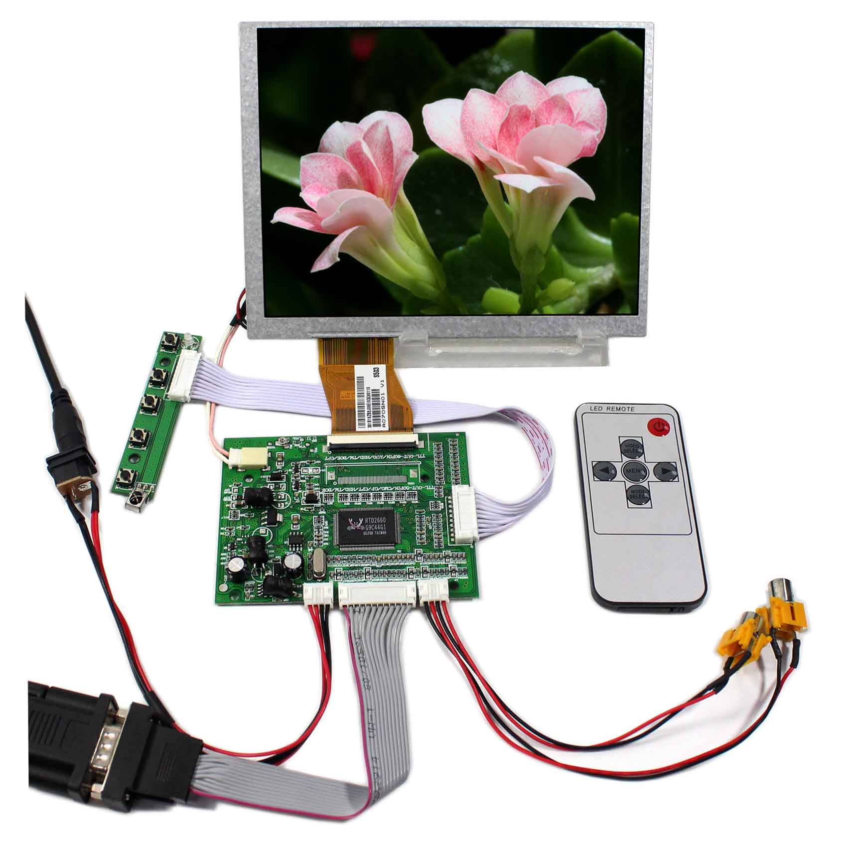 7inch 800x600 A070SN01 4:3 LCD Screen With VGA+AV LCD Controller Board VS-TY5060-V1 a070sn01 v 1 v1 original a grade 7 inch 800 600 tft 4 3 lcd screen with touch screen for car navigation lcd