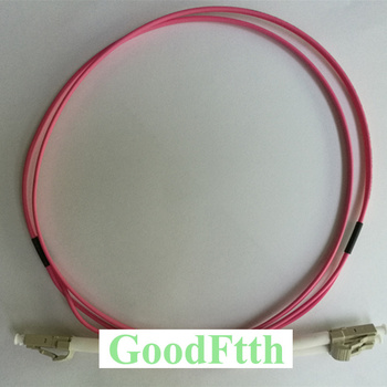 кабель pigtail lanmaster lan pig lc om4 1 5 1x50 125 om4 lc 1 5м пвх Fiber Patch Cord Jumper Cable LC-LC Multimode OM4 50/125 10G Duplex GoodFtth 20-100m