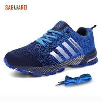 SAGUARO Spring Men Breathable Running Shoes Unisex Sport Shoes Net Athletic Lace Up Shoes Of Men