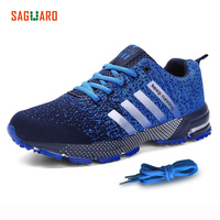 SAGUARO Spring Men Breathable Running Shoes Unisex Sport Shoes Net Athletic Lace Up Shoes Of Men