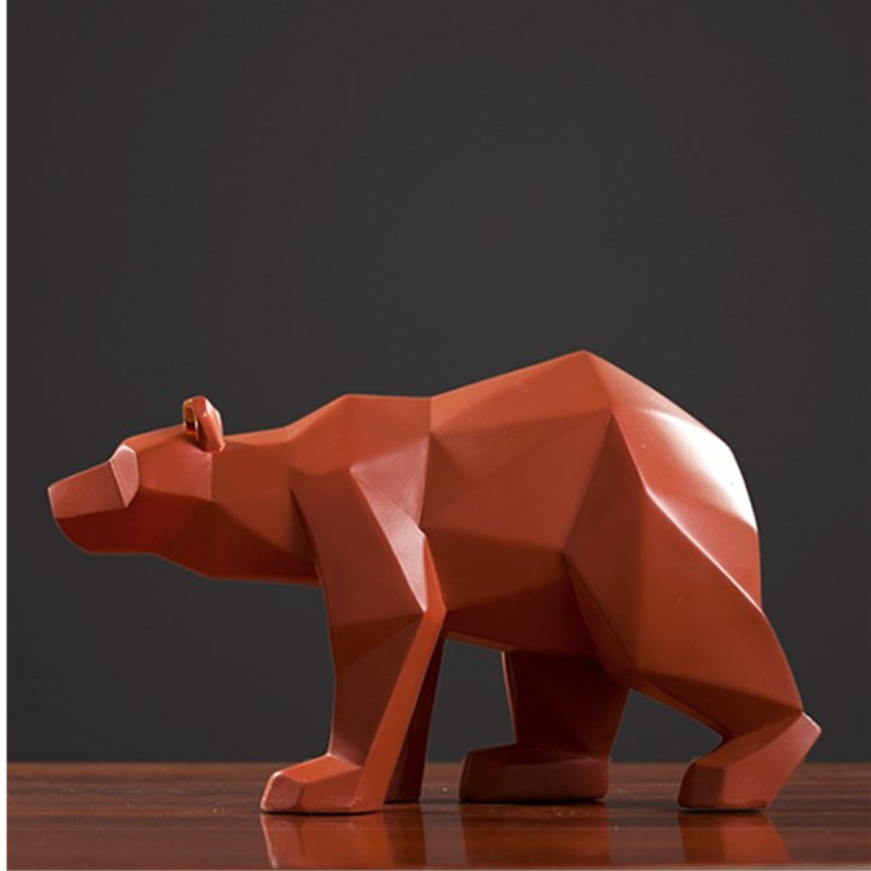 Geometry Bear Statue Figurine Origami Animals Art Sculpture Resin Art&Craft Home Decoration Accessories For Living Room R734Geometry Bear Statue Figurine Origami Animals Art Sculpture Resin Art&Craft Home Decoration Accessories For Living Room R734