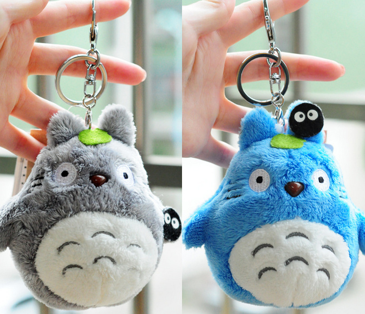Mini my neighbor totoro plush toy 2017 New kawaii anime totoro keychain toy stuffed plush totoro doll Toy for Children Gift free shipping about 60cm cartoon totoro plush toy dark grey totoro doll throw pillow christmas gift w4704